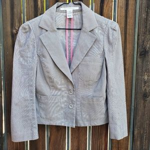 DVF Pinstriped Crop Blazer Jacket 6